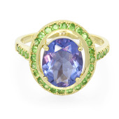 18K Colour Change Fluorite Gold Ring