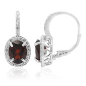 Mozambique Garnet Silver Earrings