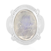 Rainbow Moonstone Silver Ring (Memories by Vincent)