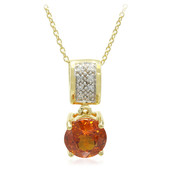 18K Mandarin Garnet Gold Necklace