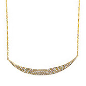 9K SI Diamond Gold Necklace
