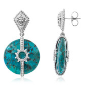 Turquoise Silver Earrings (Dallas Prince Designs)