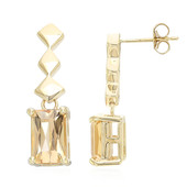 9K AAA Imperial Topaz Gold Earrings