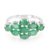 Transvaal Emerald Silver Ring