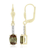 9K Andalusite Gold Earrings