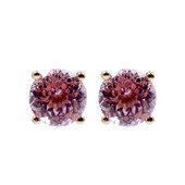 9K Kunzite Gold Earrings