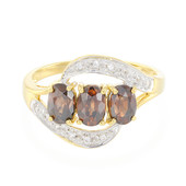 Chocolate Zircon Silver Ring