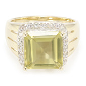 9K Ouro Verde Quartz Gold Ring