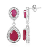 Madagascar Ruby Silver Earrings