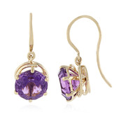 9K AAA Kalomo Amethyst Gold Earrings (PHANTASIA)