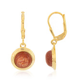 Sunstone Silver Earrings