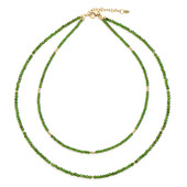 Russian Diopside Silver Necklace