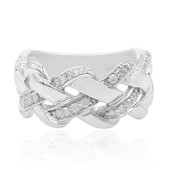 I1 (I) Diamond Silver Ring
