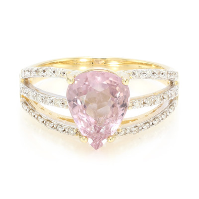 18K Pink Cuprian Tourmaline Gold Ring
