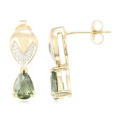 14K Paraiba Tourmaline Gold Earrings (Lance Fischer)
