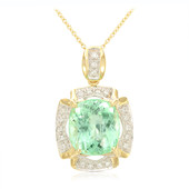 18K Nigerian Paraiba Tourmaline Gold Necklace