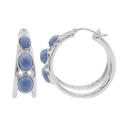 Blue Opal Silver Earrings