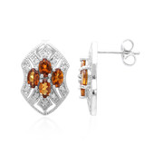 AAA Spessartite Silver Earrings