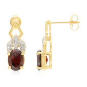 18K Red Zircon Gold Earrings