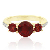9K Red Tibetanite Gold Ring