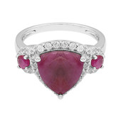 Ruby Silver Ring