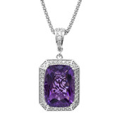 Zambian Amethyst Silver Necklace (Dallas Prince Designs)