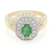 9K AAA Brazilian Emerald Gold Ring