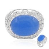Blue Jadeite Silver Ring