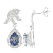 Neptune Topaz Silver Earrings