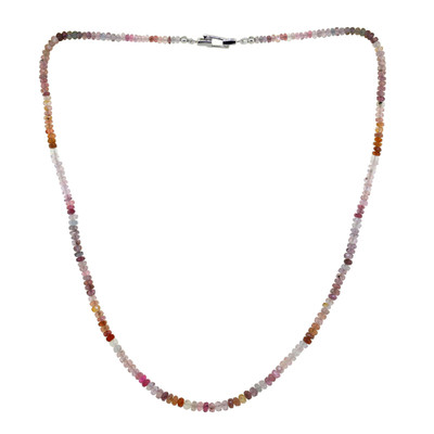 Fancy Spinel Silver Necklace