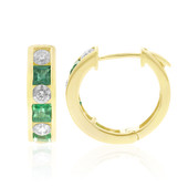 14K Colombian Emerald Gold Earrings (CIRARI)