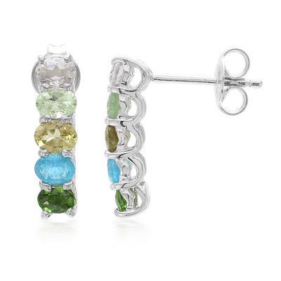 Fancy Tourmaline Silver Earrings (Cavill)