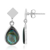 Abalone Shell Silver Earrings