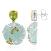 Aqua Chalcedony Silver Earrings (Dallas Prince Designs)