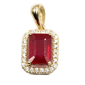 9K Mozambique Ruby Gold Pendant