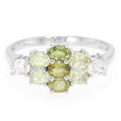 Fancy Tourmaline Silver Ring