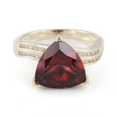 9K AAA Mozambique Garnet Gold Ring