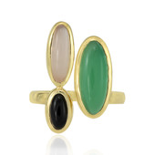 Green Chalcedony Silver Ring (MONOSONO COLLECTION)