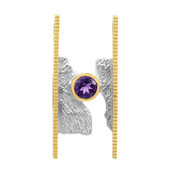 Zambian Amethyst Silver Pendant (MONOSONO COLLECTION)