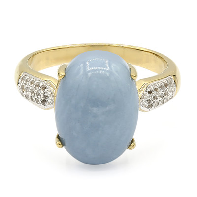Blue Opal Silver Ring