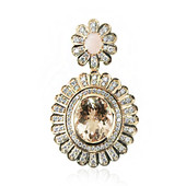 14K Brazilian Morganite Gold Pendant (de Melo)