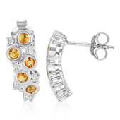Yellow Sapphire Silver Earrings