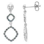 Fancy Diamond Silver Earrings (Cavill)