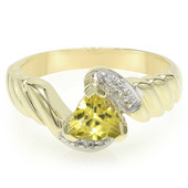 14K Yellow Beryl Gold Ring (Lance Fischer)