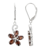 Mashewa Orange Zircon Silver Earrings