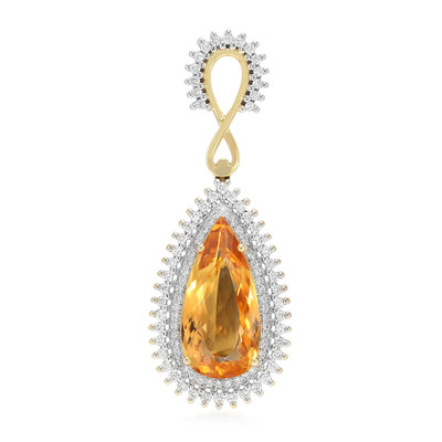 18K AAA Imperial Topaz Gold Pendant