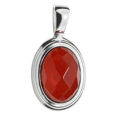 Colombian red Amber Silver Pendant