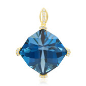 14K London Blue Topaz Gold Pendant