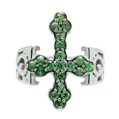 Tsavorite Silver Ring (Dallas Prince Designs)