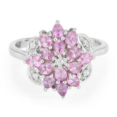 Pink Sapphire Silver Ring (Cavill)